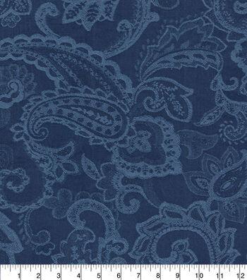 "Waverly Upholstery Fabric 13x13"" Swatch-Past Tense Indigo"