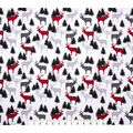Super Snuggle Flannel Fabric-Patterened Deer in Trees