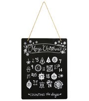 """Fab Lab 8""""x10"""" Advent Calender Chalkboard with Jute Hanger, , hi-res"""