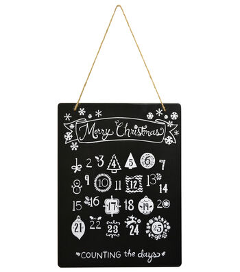 "Fab Lab 8""x10"" Advent Calender Chalkboard with Jute Hanger"