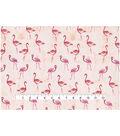 Novelty Cotton Fabric 43\u0027\u0027-Painted Flamingos
