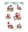Hobby House Sugar Nellie Topper Sheet 8.5\u0027\u0027x12.2\u0027\u0027-Jolly Christmas