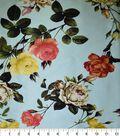 Gianna Printed Charmeuse Fabric 43\u0027\u0027-Moon Rose Floral