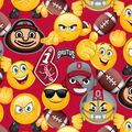 Ohio State University Buckeyes Cotton Fabric -Emoji