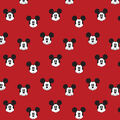 Disney Mickey Mouse Cotton Fabric-Mickey Faces
