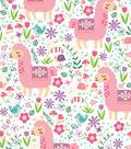 Snuggle Flannel Fabric -Pastel Patterned Llama