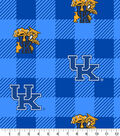 Kentucky Wildcats Fleece Fabric-Buffalo Plaid