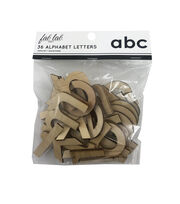 Fab Lab Craft 36 pk Lowercase Alphabet Letters-Natural, , hi-res