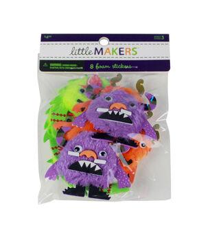 Little Makers Halloween 8 pk Fur & Foam Stickers-Monster