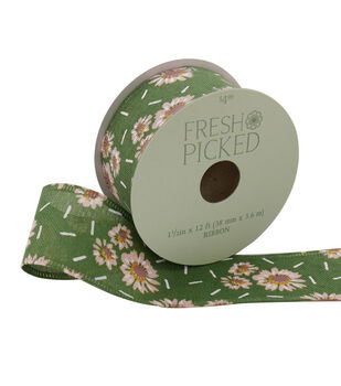 Fresh Picked Desert Aura Ribbon 1.5''x12'-Floral on Sage