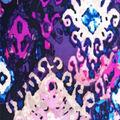 Stretch Chiffon Fabric 57\u0027\u0027-Purple Blurred Diamond
