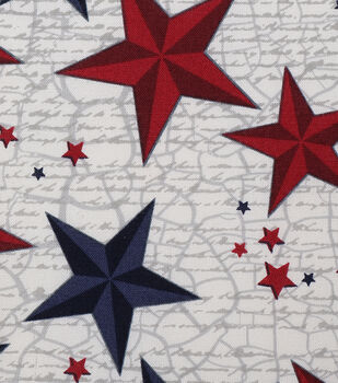 Patriotic Cotton Fabric 43''-Scripted Texas Stars