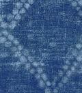 Ellen DeGeneres Upholstery Fabric 54\u0027\u0027-Indigo Shibori Diamond