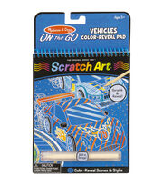 Melissa & Doug On The Go Scratch Art Color Reveal Pad-Vehicles, , hi-res