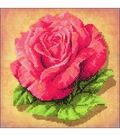 RIOLIS Stamped Cross Stitch Kit 7.75\u0022X7.75\u0022-Rose