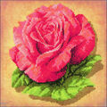 RIOLIS Create it Yourself 7.75\u0027\u0027x7.75\u0027\u0027 Stamped Cross Stitch Kit-Rose