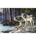 Paint Works Paint By Number Kit 20\u0022X14\u0022-Gray Wolves