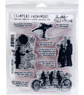 Stampers Anonymous Tim Holtz Cling Mount Rubber Stamp-Theories