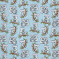 Snuggle Flannel Fabric-Loving Koalas Blue
