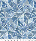 Waverly Upholstery Décor Fabric 9\u0022x9\u0022 Swatch-Stitches Ocean