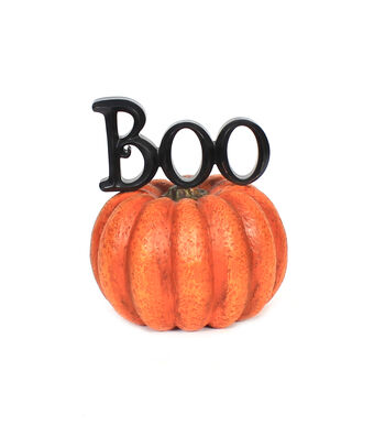 Maker's Halloween Boo on Pumpkin
