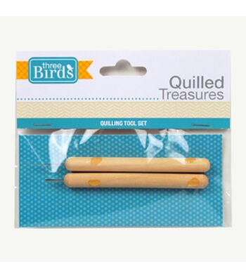 Three Birds-Quilled Treasures-Quilling Tool Set