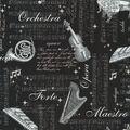 Novelty Cotton Fabric-In Harmony on Black