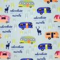 Anti-Pill Plush Fleece Fabric-Adventure Awaits Camper