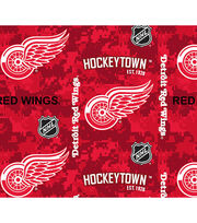 Detroit Red Wings Fleece Fabric-Digital Camo, , hi-res