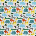 Snuggle Flannel Fabric-Bright Safari Animals