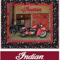 Quilt Kit-Indian Motorcycle Bike Shop  by Riley Blake