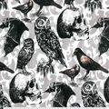 Halloween Cotton Fabric-Animals In Flight