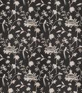 Eaton Square Lightweight Decor Fabric 54\u0022-Francisco/Black