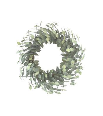 Fresh Picked Spring 22''' Dark Eucalyptus Wreath
