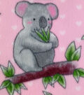 Anti-Pill Fleece Fabric 59\u0027\u0027-Cute Happy Koalas