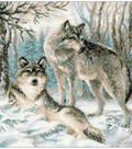 Pair Of Wolves Counted Cross Stitch Kit 10 Count