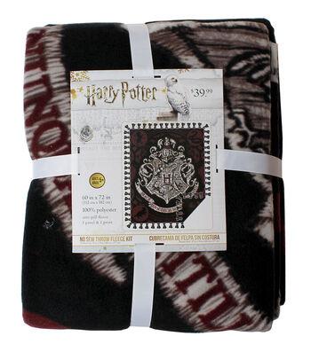 Harry Potter No Sew Throw Fleece Kit-Embroidery Hogwarts Look Crest