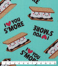 Novelty Cotton Fabric-Love You S\u0027more