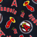 Los Angeles Angels Fleece Fabric-Cooperstown