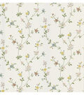 Daisy White Floral Trail Wallpaper Sample