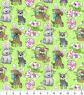 Easter Cotton Fabric-Spring Holiday Pups