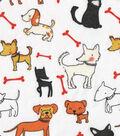 Snuggle Flannel Fabric 42\u0022-Dog Friends