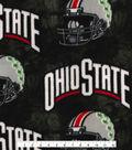 Ohio State Buckeyes Fleece Fabric -Helmets on Black