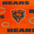 Chicago Bears Fleece Fabric -Orange