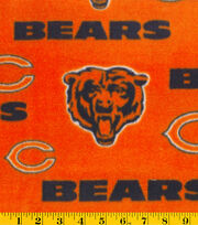Chicago Bears Fleece Fabric -Orange, , hi-res