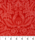 Anti-Pill Fleece Fabric 57\u0022-Juliette Red Damask