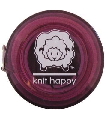 """Knit Happy Tape Measure 60""""-Purple"""