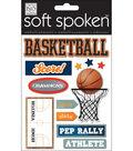 Soft Spoken Themed Embellishments-Basketball