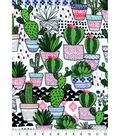 Snuggle Flannel Fabric 42\u0027\u0027-Trendy Potted Cacti