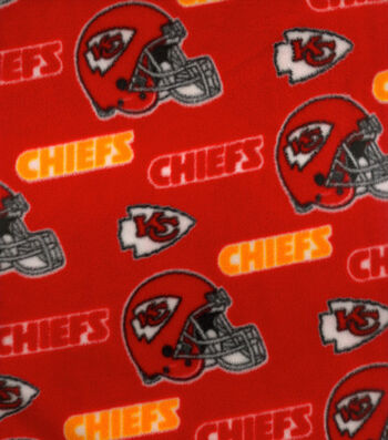 Kansas City Chiefs Fleece Fabric - Helmets